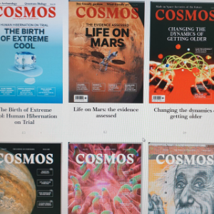 Images of Cosmos Magazine covers