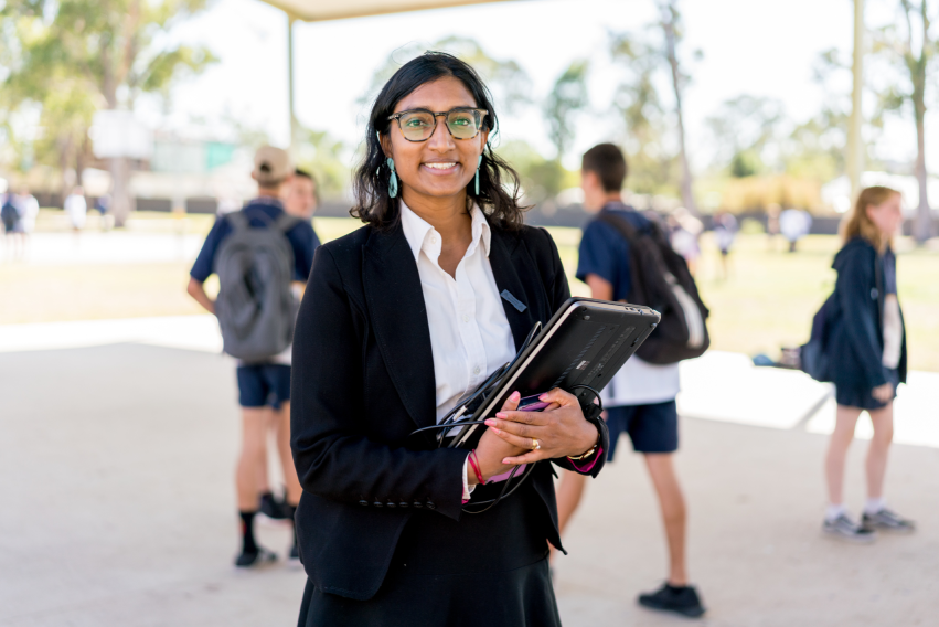 Yasodai Selvakumaran at school in Rooty Hill